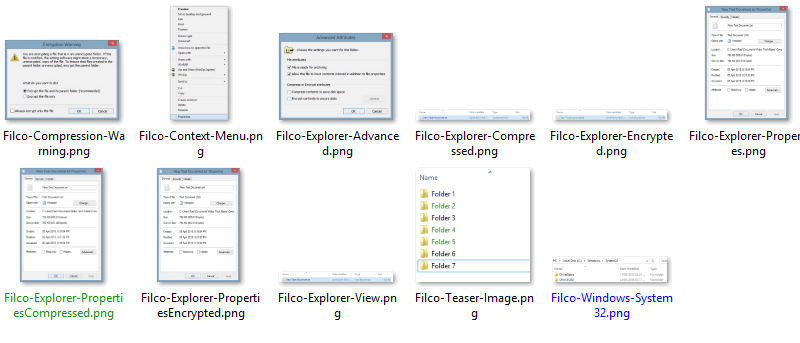 Change the Colour of File Names in Windows