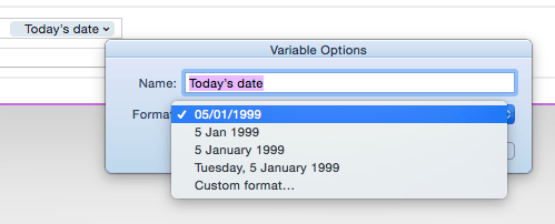 Use the dropdown on Today's Date.