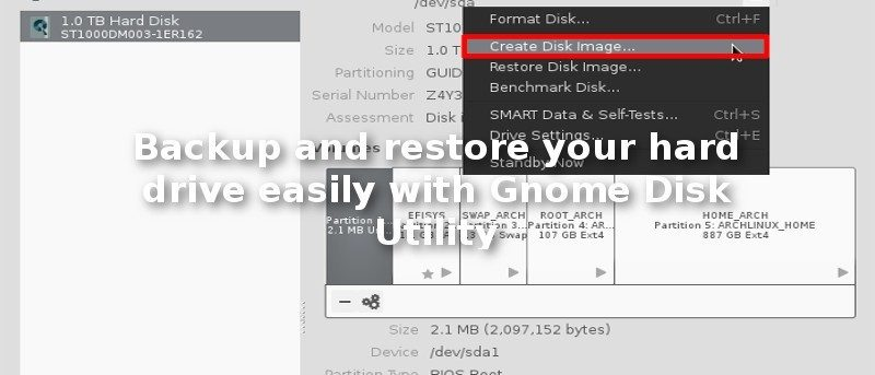 Backup and Restore Your Hard Drive Easily with Gnome Disk Utility