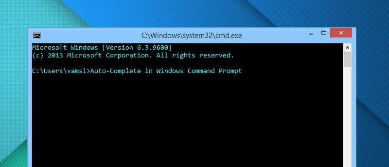 How to Enable Auto Complete Feature in Windows Command Prompt