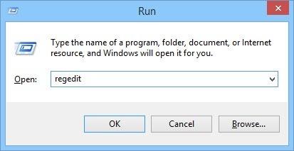 Open the Windows Registry.