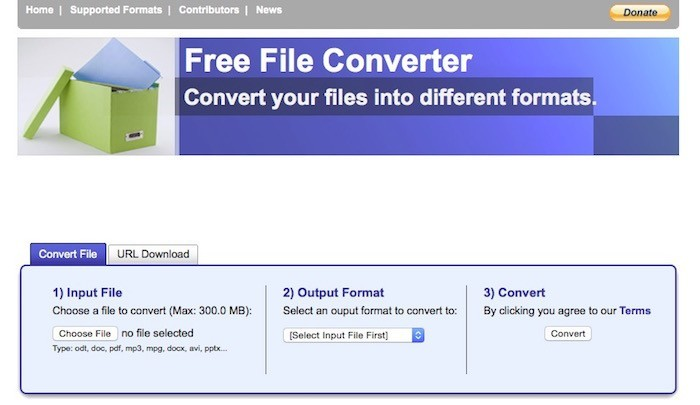 Free File Converter - Convert your files into different formats.