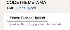 Upload the file you want to convert.