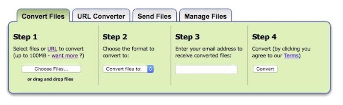 Zamzar- Free online file conversion.