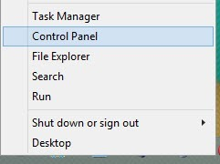 Open Control Panel.