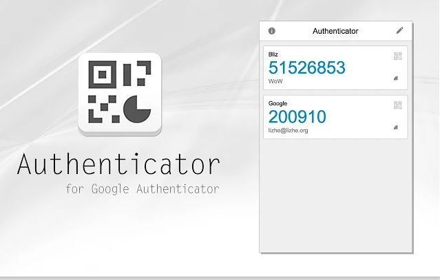 Authenticator app for Chrome.