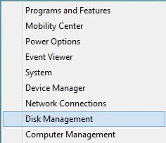 Select 'Disk Management.'