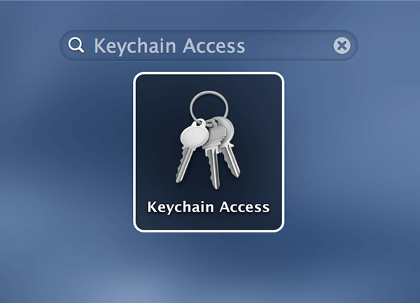 Open Keychain Access on your Mac.