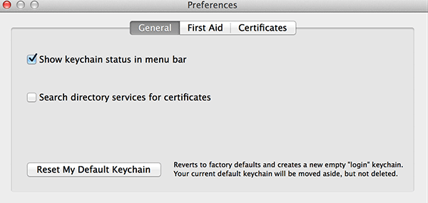 Select 'Show keychain status in menu bar.'