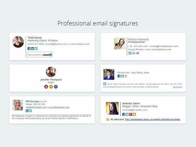WiseStamp professional email signatures.