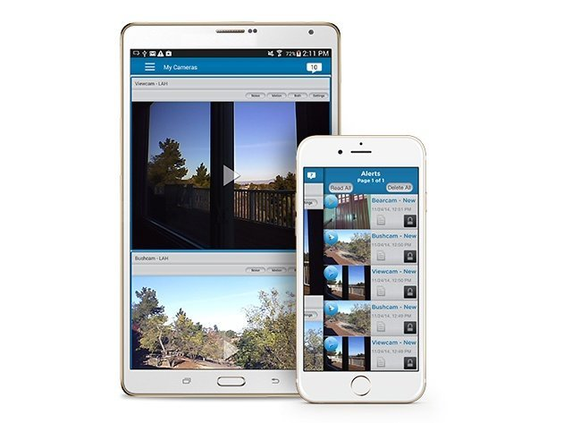 Izon View Security Camera Mobile App for Android and iOS.