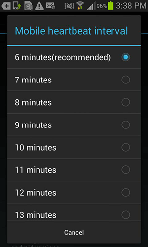 6 minutes is the recommended time.