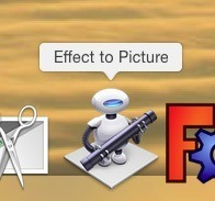 Drag a picture onto the 'Effect to Picture' Application icon.