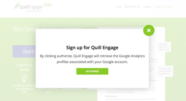 Sign up for Quill Engage.