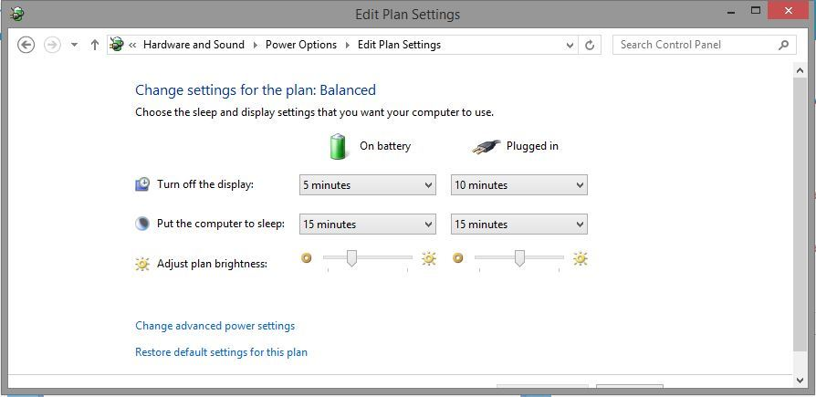 Change your battery settings back to original plan.