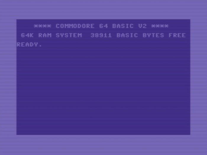 Commodore 64 screen.