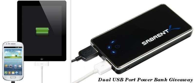 Charge Two Devices at Once with Sabrent's Dual USB Power Bank – Review & Giveaway