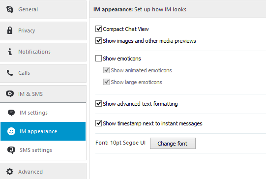 Compact Chat View, in the Options menu.