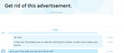 How to Remove Advertisements in Skype Desktop Client