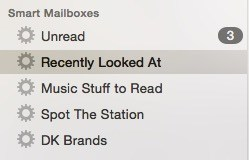 Smart Mailboxes in Apple Mail.