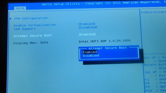 Secure Boot in Windows.