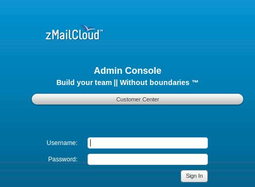 zMailCloud Admin Console