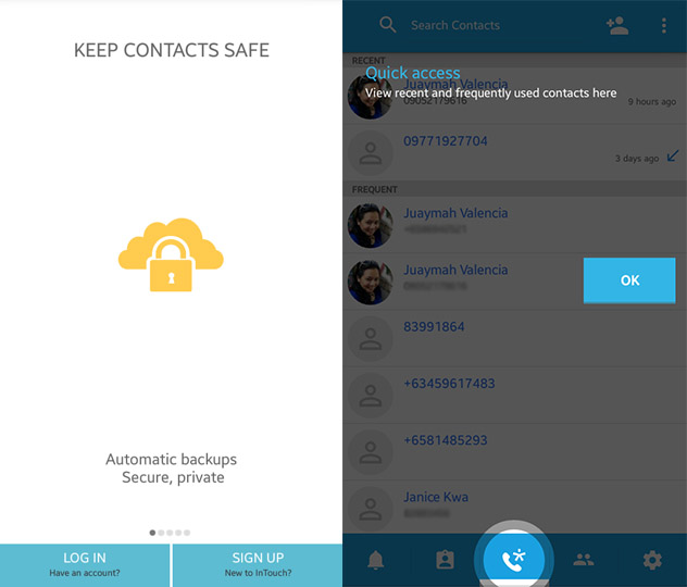 Contacts Transfer Backup Sync - Intouch Android App