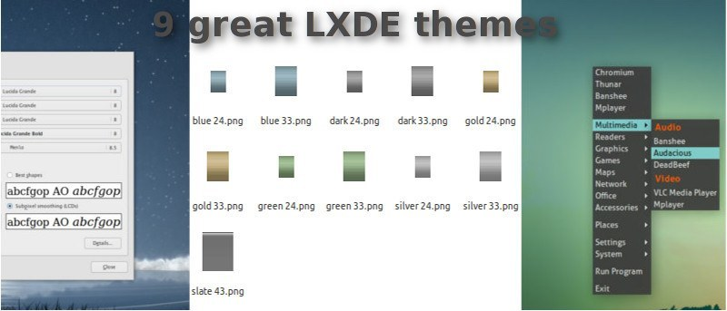 9 Great LXDE Themes