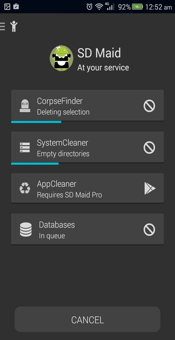 SD Maid for Android scanning