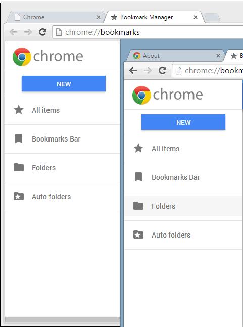 Chrome Bookmark Manager.