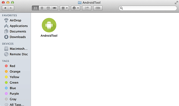 Drag and drop AndroidTool to Applications folder.