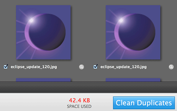 Click on 'Clean Duplicates.'