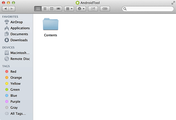You should now see a new folder labeled 'Contents.'