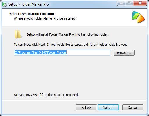 Folder Marker Pro setup.