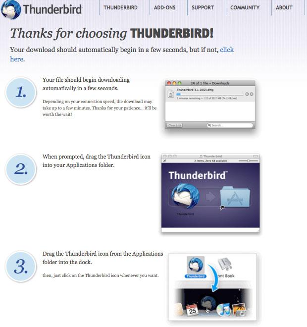 Install Mozilla Thunderbird