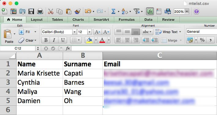 Create a spreadsheet and save it as dot-csv file.