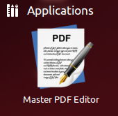 Open the Master PDF editor from Dash.