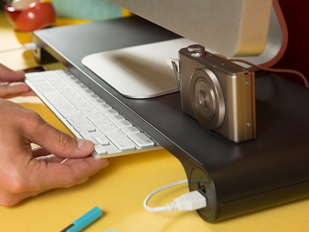 The Monitor Stand That Declutters Your Workspace & Charges Your Devices
