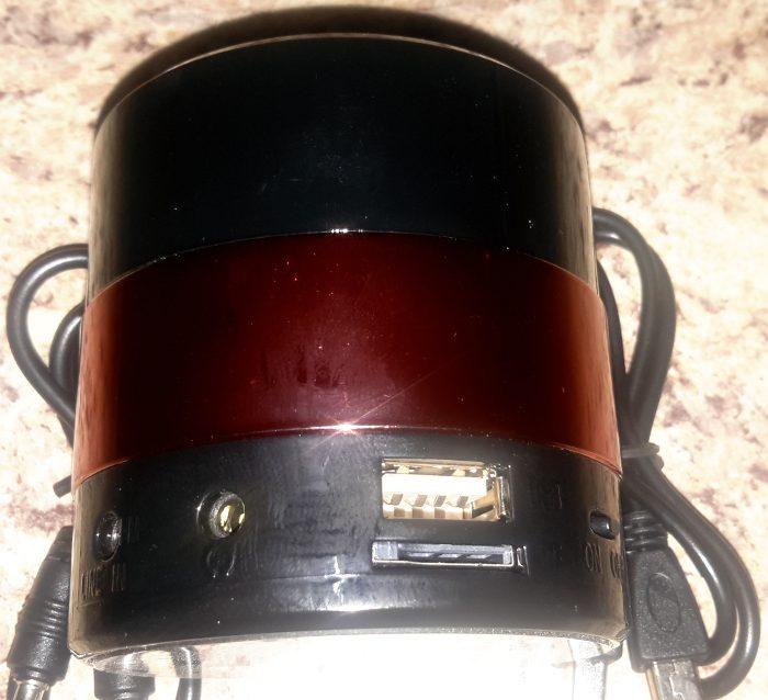Jacks and ports on Nizhi MINI speaker.