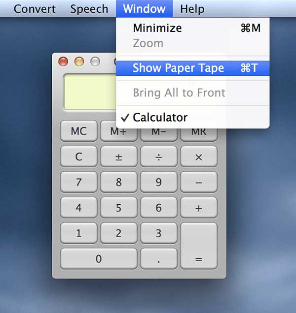 Click 'Window' menu followed by 'Show Paper Tape.'