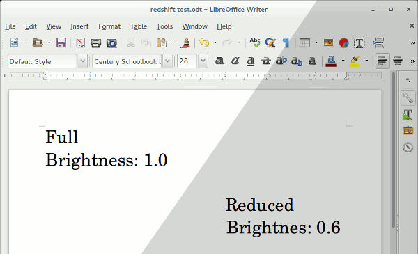 Redshift addjusted brightness.
