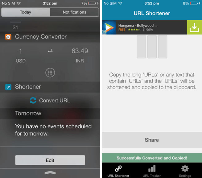 URL Shortener app for iOS.