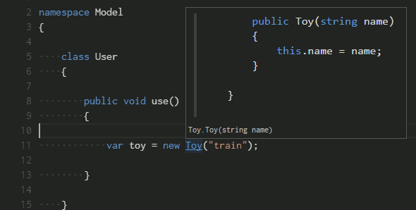 Go to definition in VS Code.