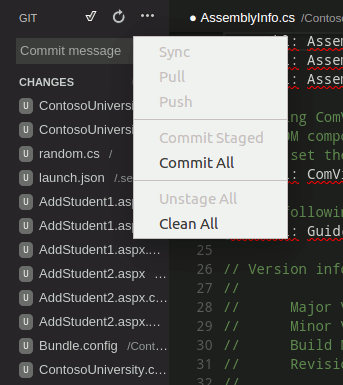 Simple version control with Git.
