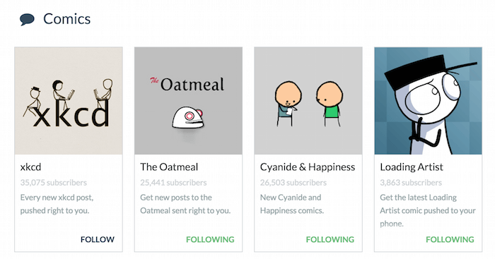 PushBullet channels.