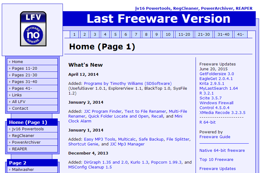Freew-321D-Homepage