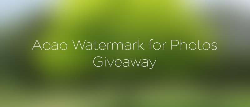 Aoao Watermark for Photos: Watermark Your Photos Quickly and Easily – Review and Giveaway