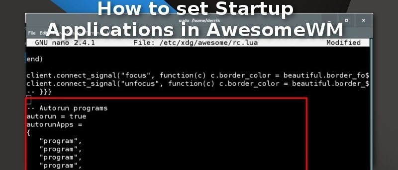 How to Set Startup Applications in AwesomeWM