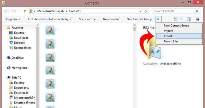 exportiPhonecontacts-clickexport