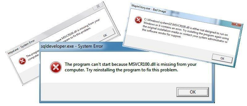 How to Fix the 'MSVCR100 dll' is Missing Error